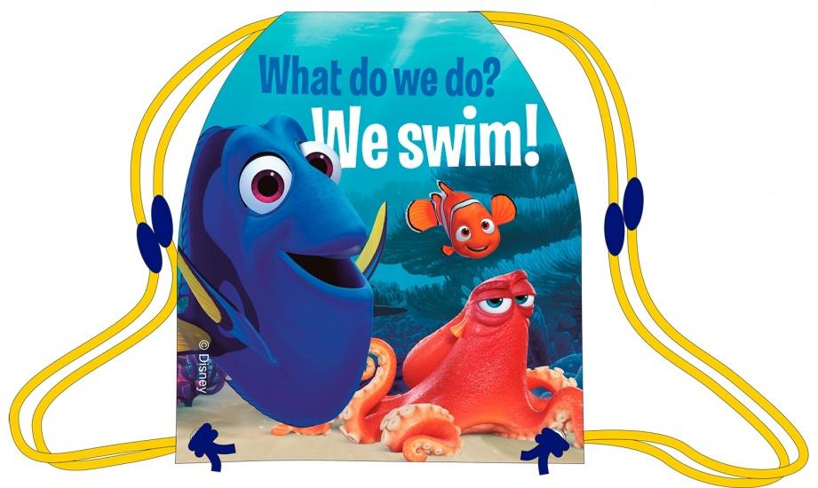 Disney Gymtas Finding Dory 41x30 cm blauw