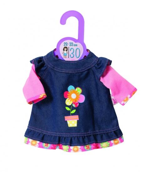 Dolly Moda denimjurk 30 cm roze/blauw