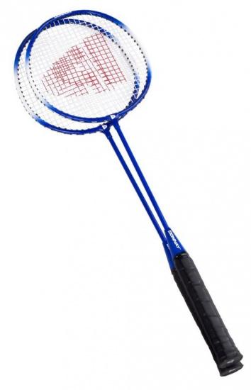 Donnay Badmintonset staal blauw per set