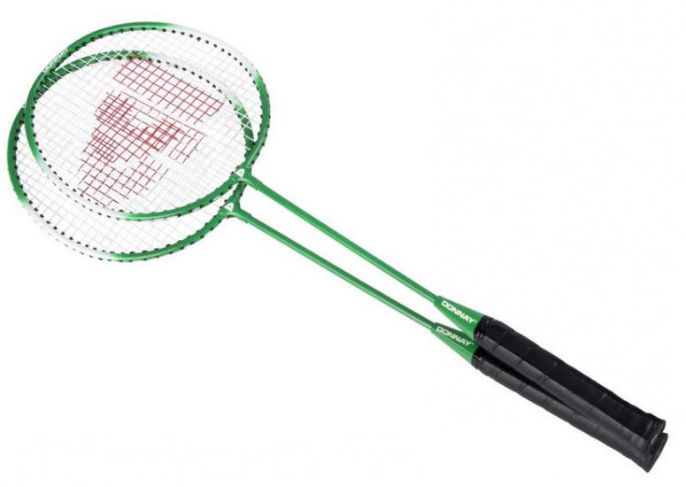 Donnay Badmintonset staal groen per set