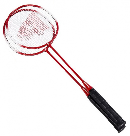 Donnay Badmintonset staal rood per set