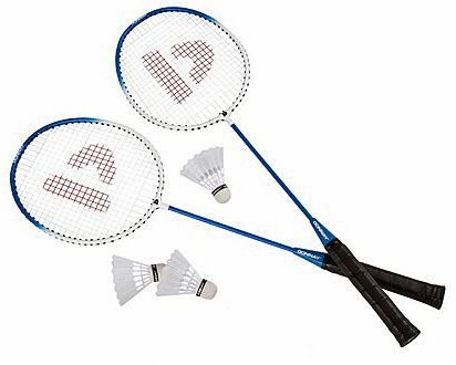 Donnay Badmintonset HTF staal blauw per set