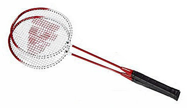 Donnay Badmintonset HTF staal rood per set