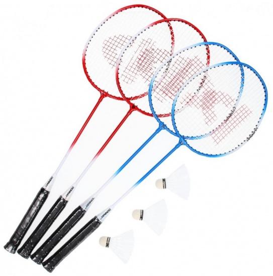Donnay Badmintonset met net blauw 4 stuks