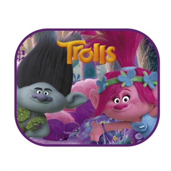 Dreamworks zonnescherm Trolls 2 stuks 45 x 36 cm + kleurplaat kopen