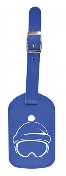 Dresz bagagelabel Wintersport PU leer 9,5 x 6 cm blauw kopen