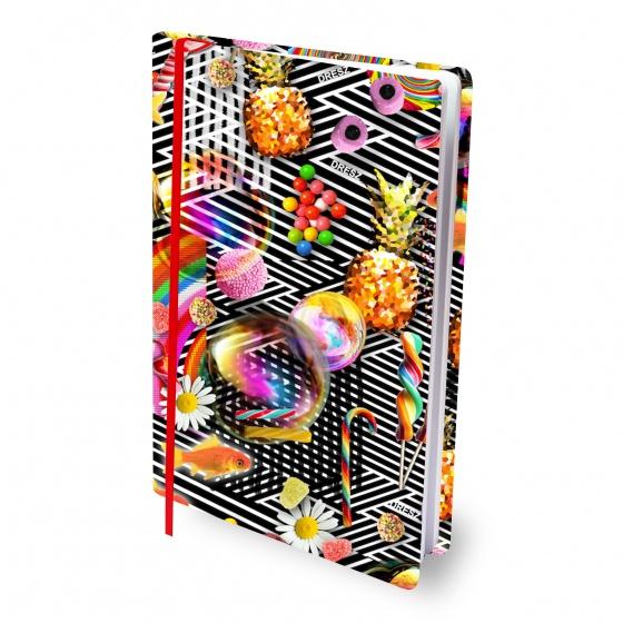 Dresz elastische boekenkaft A4 Candy textiel/elastaan