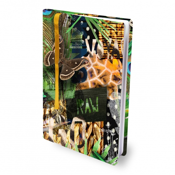Dresz elastische boekenkaft A4 Urban Nature textiel/elastaan