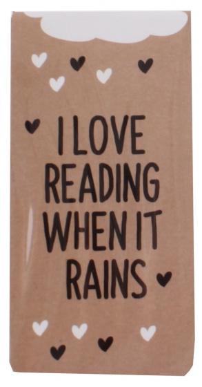 Dresz magnetische boekenlegger I Love Reading 9 x 4,5 cm