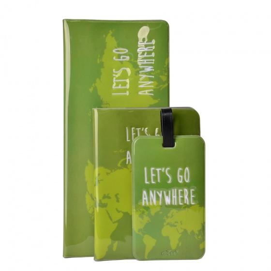 Dresz reisset Let's go anywhere 3 delig groen kopen