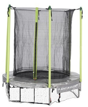 dunlop trampoline with safety net 305 x 65 cm gray green. Black Bedroom Furniture Sets. Home Design Ideas