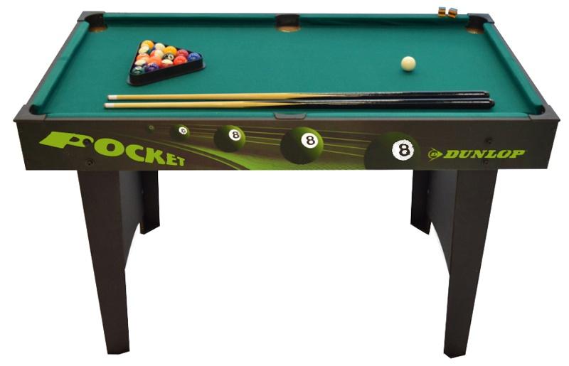 Dunlop Pooltafel Pocket 121,5 x 60,9 x 76,7 cm Zwart / Groen