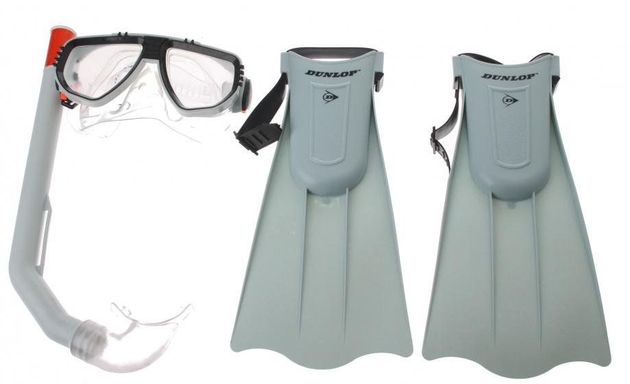 Dunlop snorkelset junior grijs 3 delig