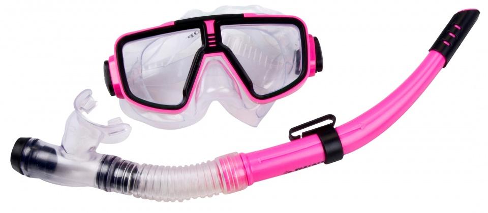 Dunlop snorkelset meisjes roze 2 delig