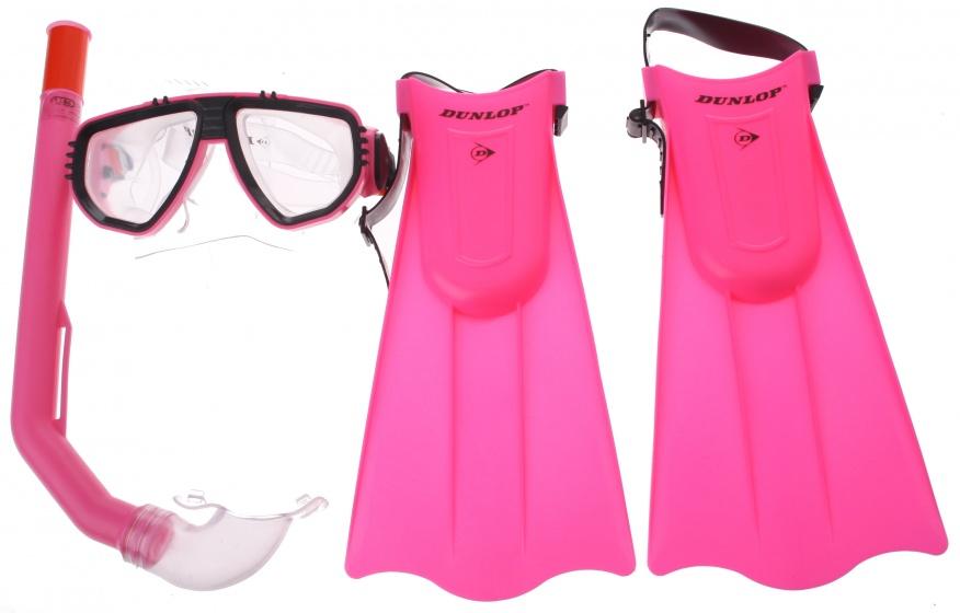 Dunlop snorkelset meisjes roze 3 delig