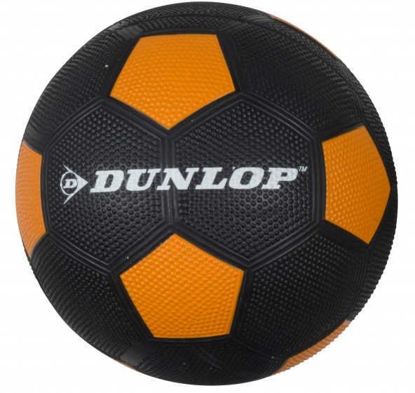 Dunlop Voetbal maat 5 zwart/oranje