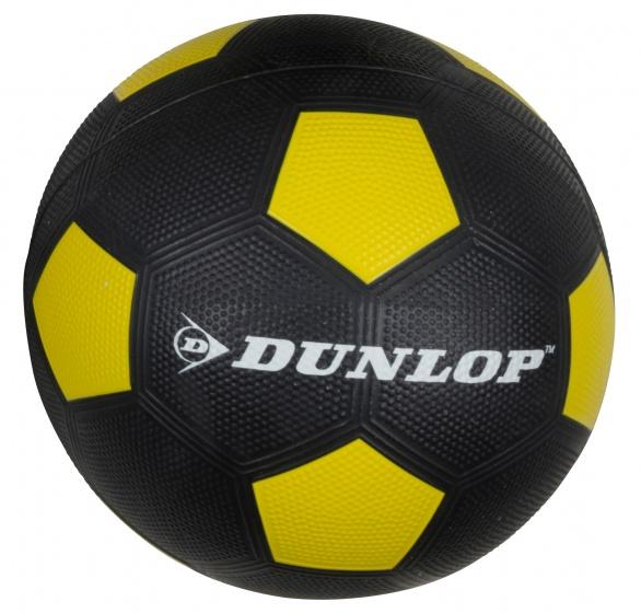 Dunlop Voetbal maat 5 zwart/geel