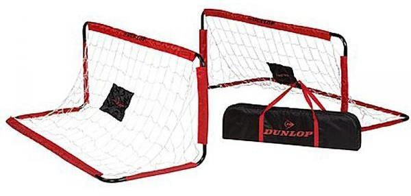 Dunlop set voetbaldoelen 150 x 60 x 60 cm rood/zwart