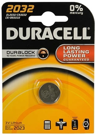 Duracell Knoopcel Professional Lithium CR2032: 3V