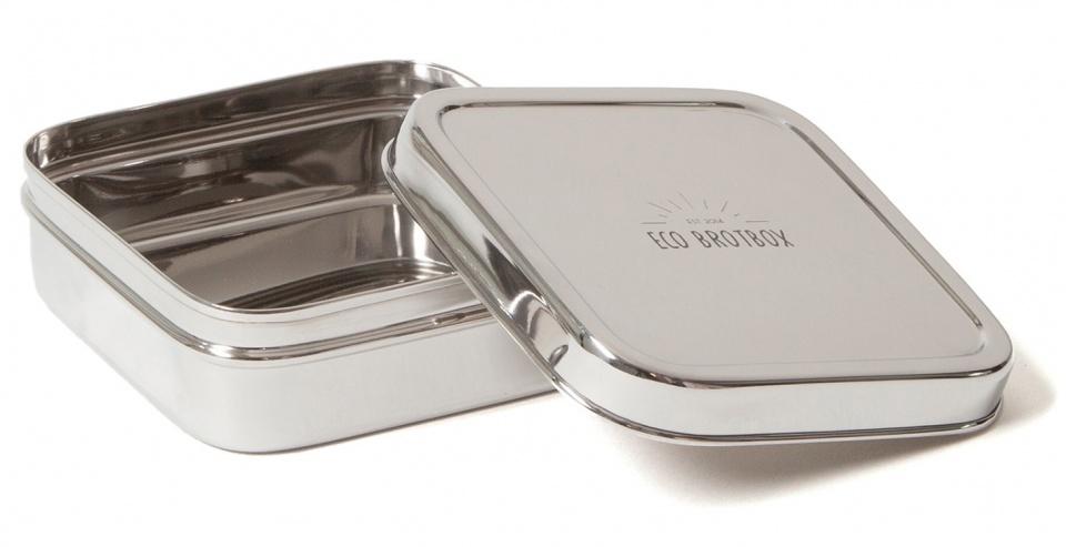 ECObrotbox Lunchbox Classic RVS 500 ml zilver