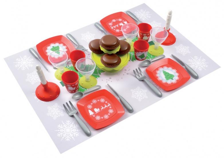 écoiffier 100% Chef: kerst servies set 35 delig