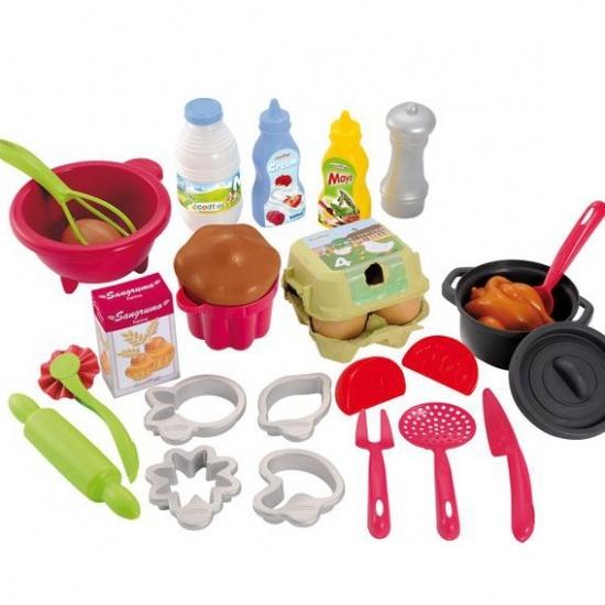 écoiffier 100% Chef: speelgoed bak en kookset 25 delig