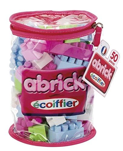 écoiffier Abrick bouwblokken roze 50 delig