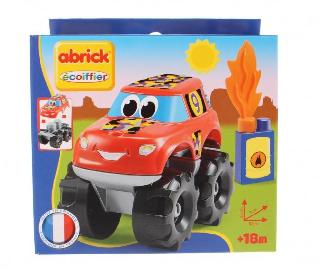 écoiffier Abrick bouwpakket auto 10 cm rood