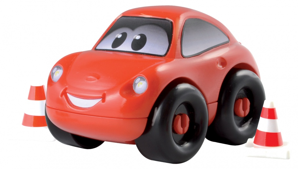 écoiffier Abrick bouwpakket auto rood 8 delig
