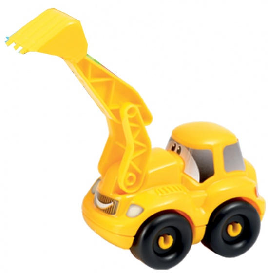 écoiffier Abrick bouwpakket shovel geel 6 delig