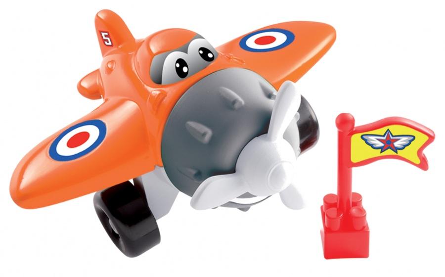 écoiffier Abrick bouwpakket vliegtuig oranje 8 delig