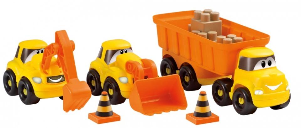 Abrick bouwvoertuigen set