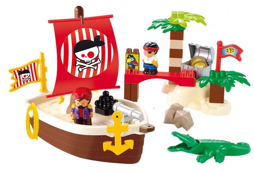 écoiffier Abrick: piratenschip met eiland