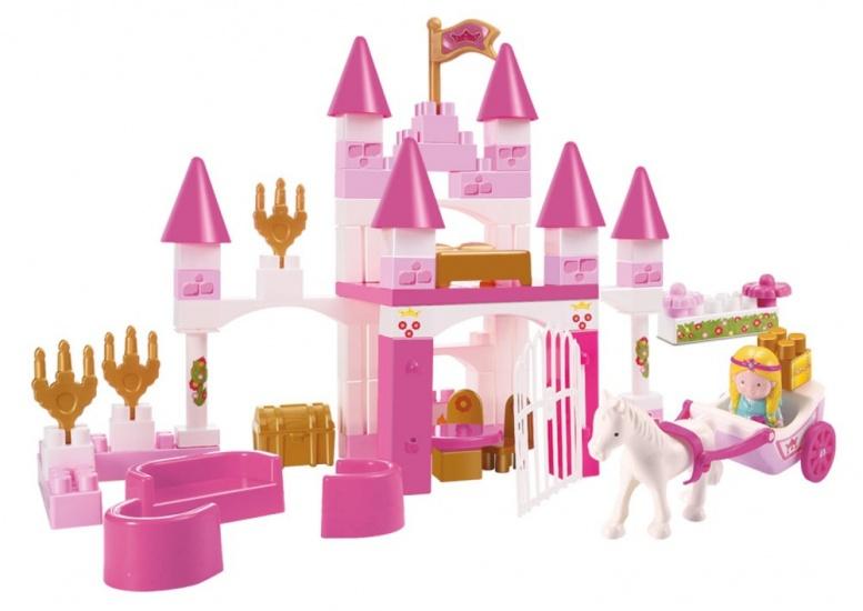 écoiffier Abrick: prinsessen kasteel kunststof roze