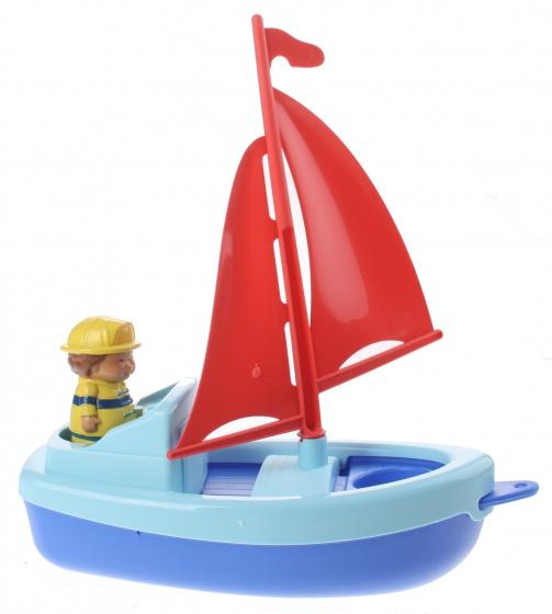 écoiffier boot met figuur blauw 22 cm