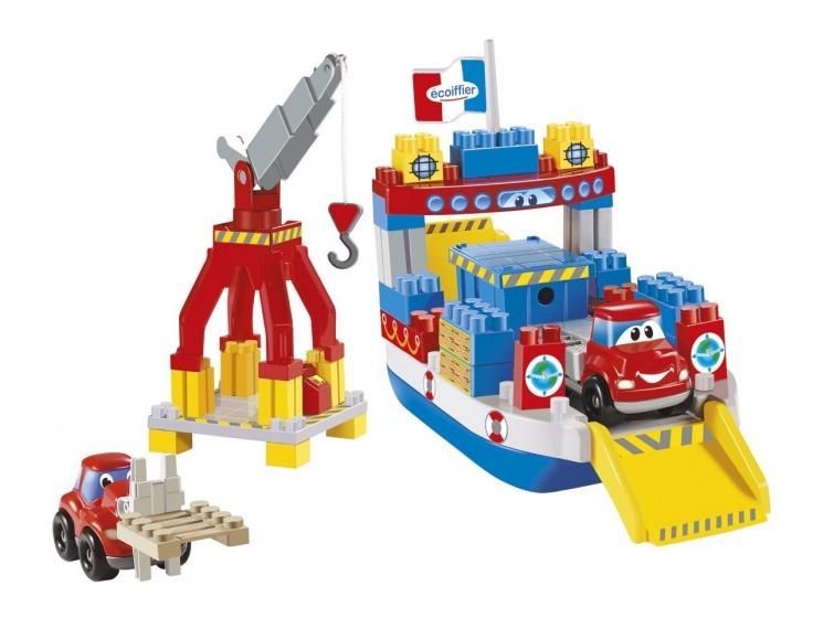 écoiffier bouwpakket Abrick Ferryboot met kraan