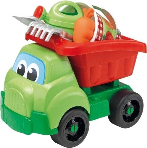 écoiffier kiepwagen tuinman groen/rood 41 cm 4 delig