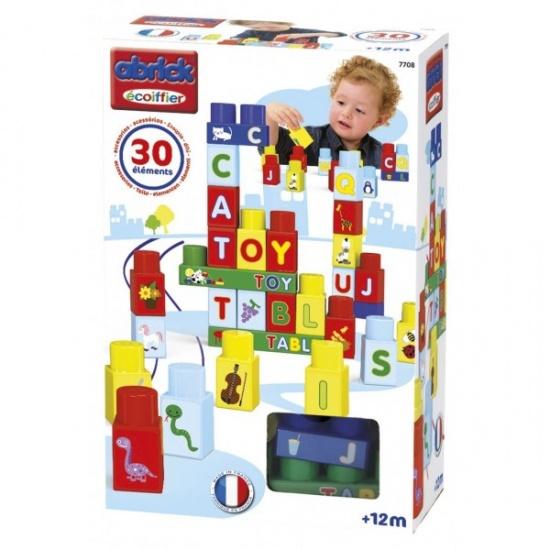 écoiffier Maxi Abrick: bouwblokken met letters 30 delig