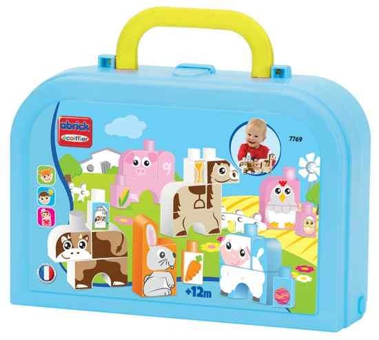 écoiffier Maxi Abrick: dierenfiguren met koffer blauw