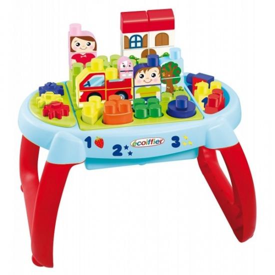 écoiffier Maxi Abrick: speeltafel bouwblokken 50 x 37 x 30 cm