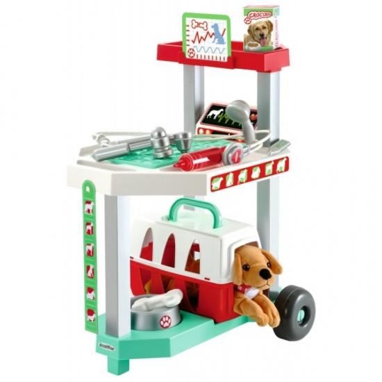 écoiffier Medical: dierenkliniek trolley 37 x 32 x 51 cm