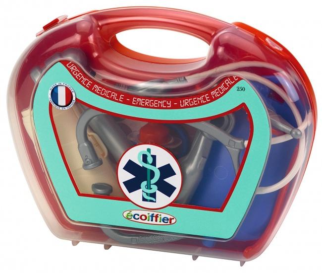 écoiffier Medical: dokterskoffer kunststof rood 14 delig