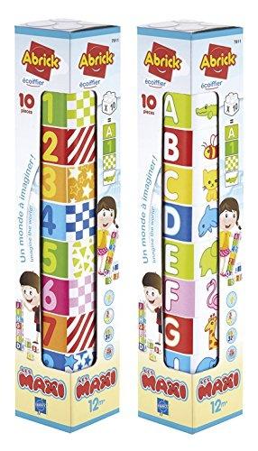 écoiffier stapelblokken Abrick Maxi cijfers en letters 10 delig