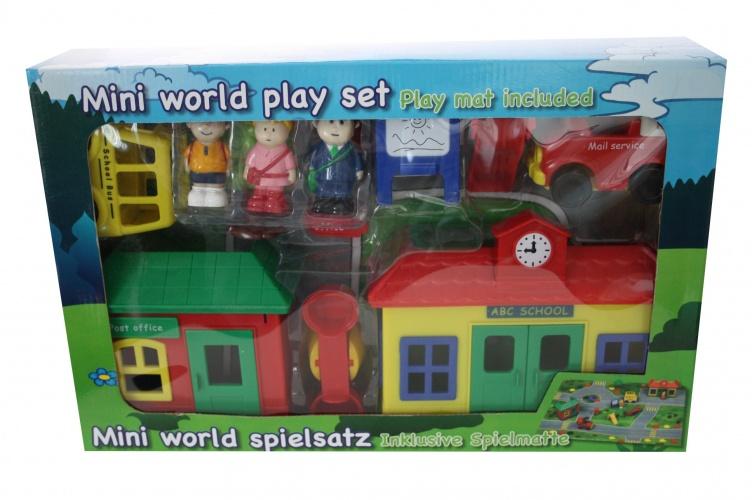 Amigo Mini World School Speelset Met Speelmat