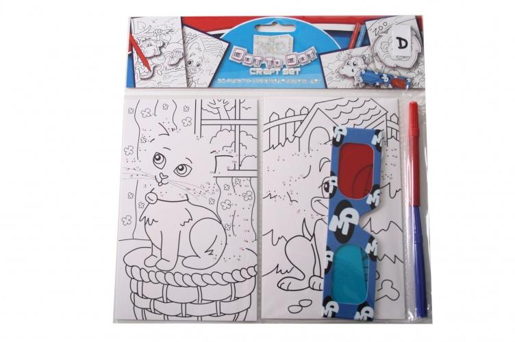 Eddy Toys 3D Punt Punt Tekenset 5 Delig Poes