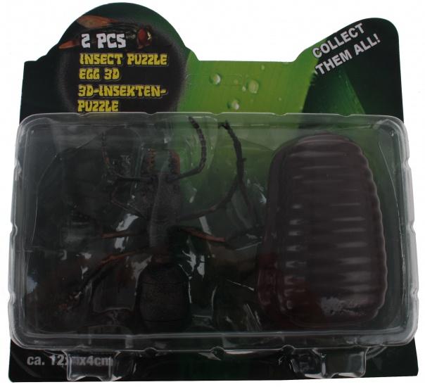 Eddy Toys 3D Puzzel Spin 23 stuks zwart 12 x 5 x 4 cm