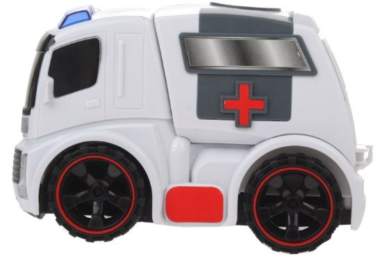 Eddy Toys Speelgoed wagen Ambulance wit 15 x 10 x 23 cm