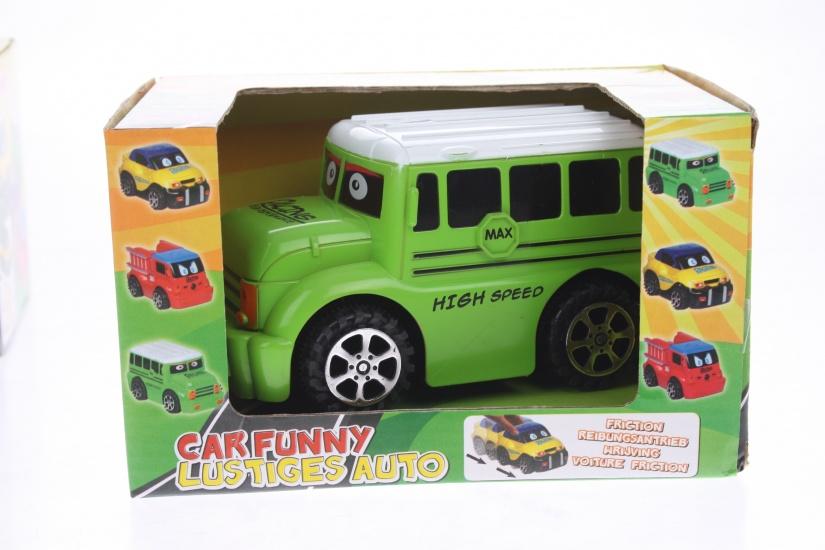 Eddy Toys Bus Funny Groen 13 cm