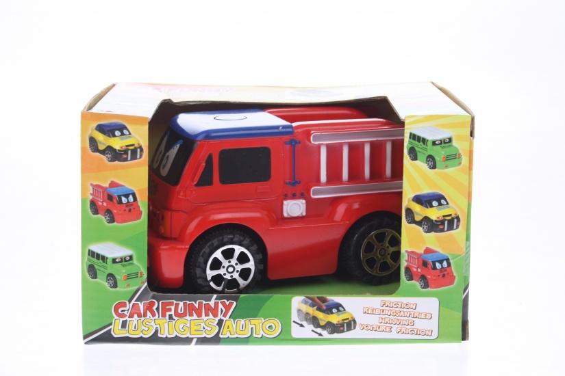 Eddy Toys Brandweerwagen Funny Rood 13 cm