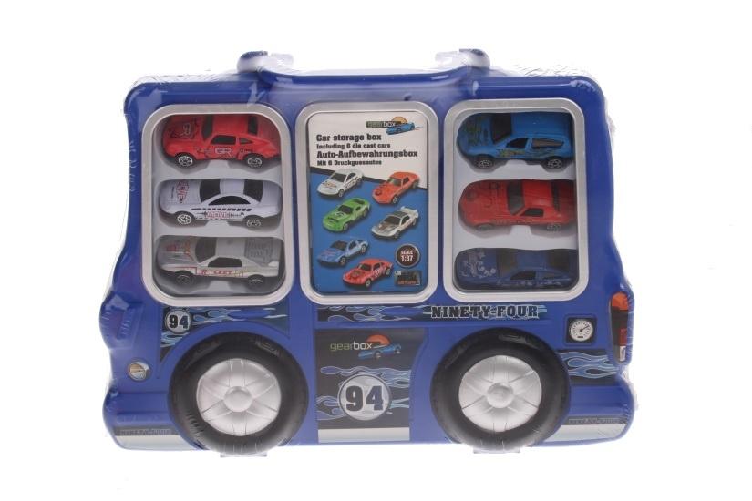 Eddy Toys Auto Opbergdoos Blauw 7 delig